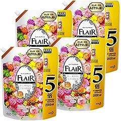 【ケース販売】フレアフレグランス 柔軟剤 ジェントル&ブーケの香り 詰め替え 2000ml×4個 梱販売 大容量