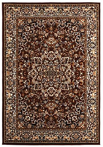 Carpeto Rugs Kurzflor Teppich - für Wohnzimmer, Schlafzimmer, Esszimmer - Braun - Orientalisch Muster - 200 x 300 cm