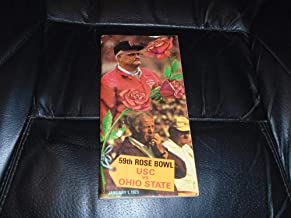 1973 ROSE BOWL FOOTBALL MEDIA GUIDE USC OHIO STATE NAT CHAMPS