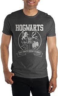 Harry Potter Hogwarts Crest and Motto Draco Dormiens Nunquam Titillandus Men's Dark Gray Tee T-Shirt Shirt