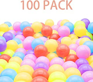 TRENDBOX 100 Ball - 6 Colors Pit Balls Non-Toxic Free BPA Soft Plastic Balls for Ball Pit Play Tent Baby Playhouse Pool Birthday Party Decoration