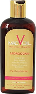 Macvoil - Ultimate All Natural Hair Oil For Shiny/Sleek Hair & Fixes Dry/Frizzy Hair With Pure Moroccan Argan Oil
