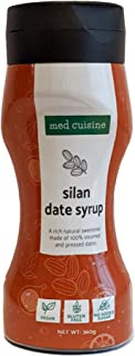 Med Cuisine Silan Dates Syrup (Date Honey) - Jarabe De Dátiles 100% Puro Y Natural Sin Azúcar - Jarabe De Café Vegano Suitable Para Paleo y Keto - Sin OGM y Gluten - 360gr - Botella Exprimible