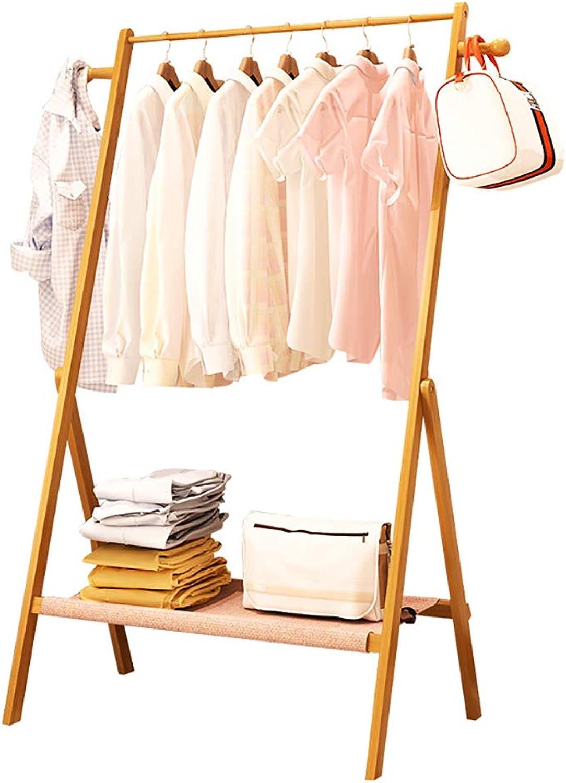 DQMSB Clothes Rack Floor Hanger Simple Living Room Bedroom Solid Wood Coat Rack Coat Racks (Size   63  50  156cm)