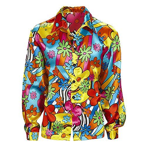 WIDMANN 73973?Flower Power Camisa de Hippie, de talla L