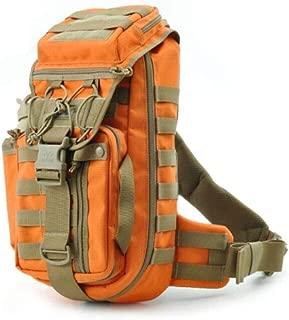 ACSH Tactical Backpack, Male Camouflage Tactical Assault Riding Backpack, Outdoor Sports Shoulder Messenger Bag, Khaki (Color : Black)
