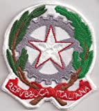 Patch Italy Republica Italiana Italien Flag Fahne Nationalflagge Wappen Aufnäher