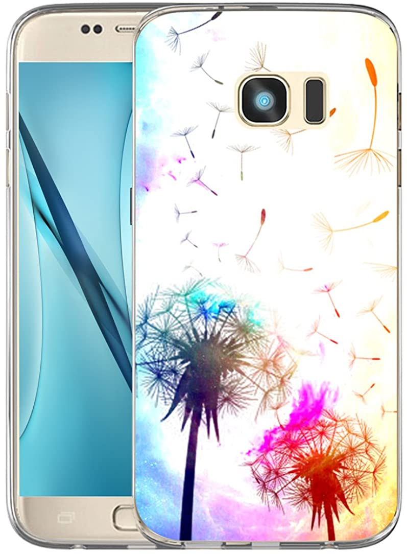 Case for Galaxy S6 TPU Dandelion/IWONE Designer Non Slip Rubber Durable Protective Skin Transparent Cover Shockproof Compatible for Samsung Galaxy S6 + Wonderful Dandelion Art