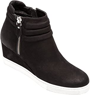 Frieda - Women's Platform Wedge Bootie Sneaker Leather or Suede