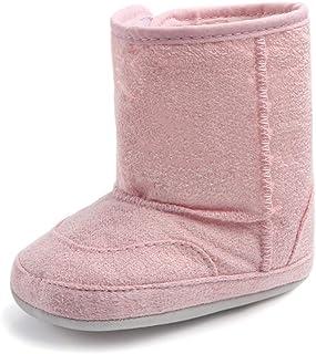 TZOU Infant Newborn Baby Winter Non-Slip Warm Snow Boots Children's Boots Flat Shoes Pink 13.50cm