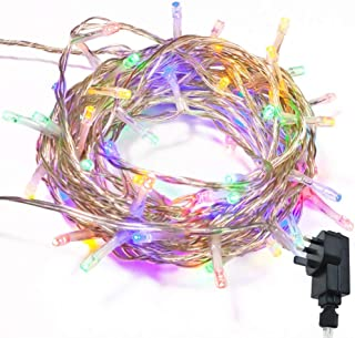 QIYUE Fairy-tale Lighting WISD Low-voltage Christmas Lights 10M 100 LED Color Indoor Outdoor Use, String Lights Main Power...