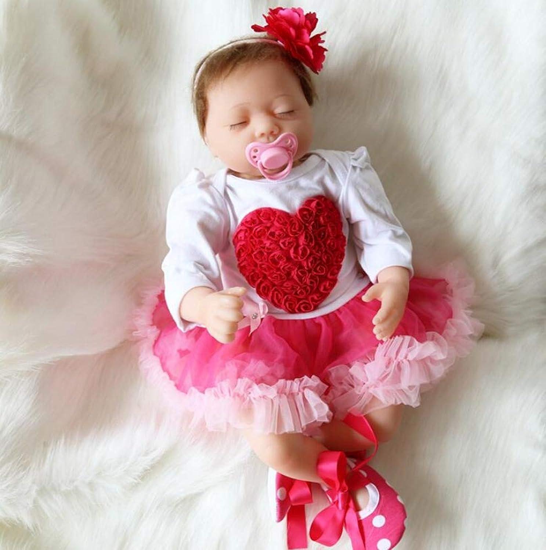 Hongge Reborn Baby Doll,Lebensechte Reborn Baby Sieht echt Kind Puppe Spielzeug 55cm B07HB16795 Günstige Bestellung  | Online-verkauf