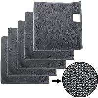 BONORUM Premium paños de Microfibra con 300 gsm Limpieza de automóviles, Motocicletas o del hogar - 5 Piezas - Diseño Elegante - Muy Absorbente y Libre de Pelusas - 40 x 40 cm