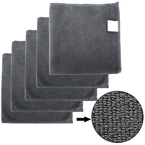 Bonorum Mikrofasertücher 300 GSM - Weich & Saugstark - für Autopflege, Reinigung & Haushalt - 40 x 40 cm - 5 Stück