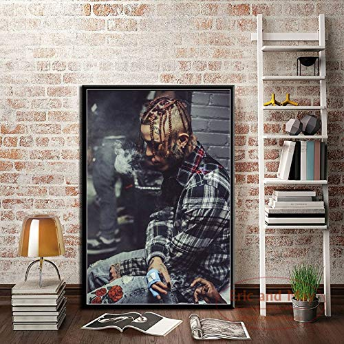 Music star singer canvas painting posters and prints on the wall abstract decoration home decoration 60x90 Frameless