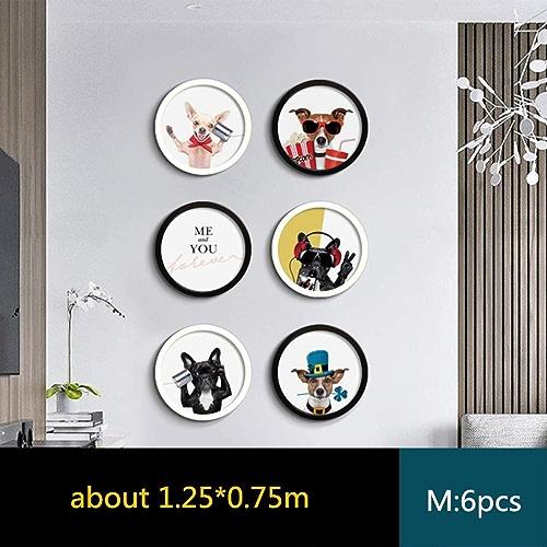 YKDDII Cadres Photo Moderne Modèle Tenture Murale Cadre Photo Set 4 Styles Ronde Photo Hall d'entrée Décor Cadres Photo Classique De Mode Multi-Fonction Cadre Photo