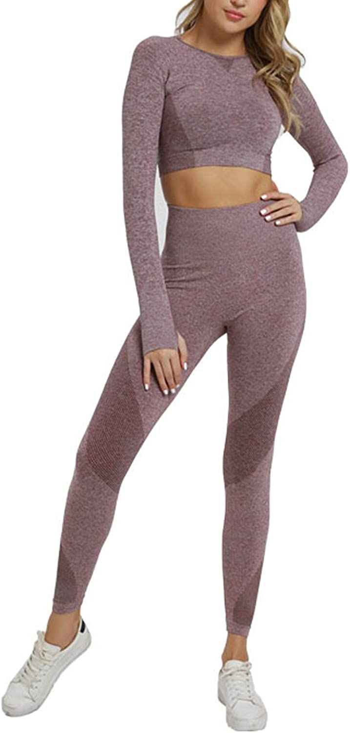 Hotexy Women's Workout Sets 2 Pieces Suits High Waisted Yoga Leggings with Stretch Sports Bra Gym Clothes: Clothing