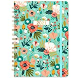 Eono by Amazon - Diary 2021 Week to View Planner A5, 12 Month Planner with Hardcover, Monthly Tabs and Expandable Inner Pocket, 6.3'x 8.4'