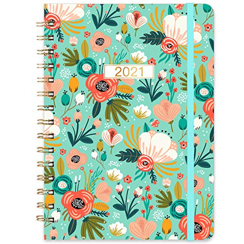 Planner 2021- Monthly Weekly Planner 2021 with Tabs 64x 85 Jan 2021 - Dec 2021 Dreamlike Butterfly Flexible Hardcover Strong Binding Back Pocket Elastic Closure Inspirational Quotes