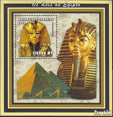 Prophila Collection Mosambik Block148 (kompl.Ausg.) 2002 Altägyptische Herrscher (Briefmarken für Sammler) Kultur
