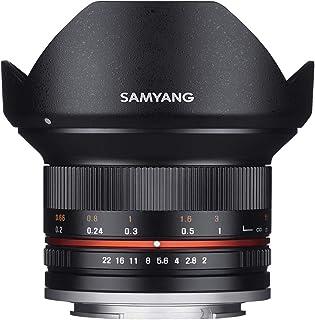 Samyang F1220509101 - Objetivo fotográfico CSC-Mirrorless para Micro Cuatro Tercios (Distancia Focal Fija 12mm, Apertura f/2-22 NCS CS, diámetro Filtro: 67mm), Negro
