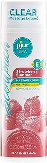 pjur SPA ScenTouch Strawberry Summer - Transp. massagelotion, doftar söta jordgubbar - slipp olja, fett, fläckar (200ml)