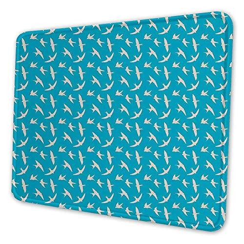 Rechthoekige Mousemat muismat, Vogels in de lucht vliegen met open vleugels Freedom Weather Graphic