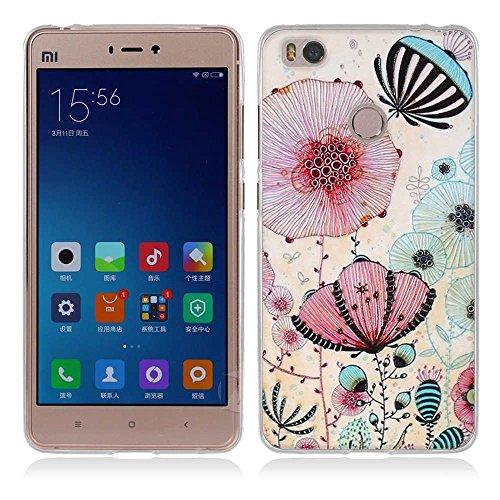 Funda Xiaomi Mi4s-Fubaoda-3D Realzar,Estético Patrón,Gel de Silicona TPU,Fina,Flexible,Resistente a los arañazos en su parte trasera,Amortigua los golpes,funda protectora anti-golpes para Xiaomi Mi4s