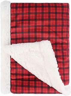 Super Soft Plush Baby Blanket, Receiving Blanket for Boys, Girls, Newborns, Crib, Toddlers, Nursery, Bedding (Plaid Red/Black, 30 x 40 Inch)