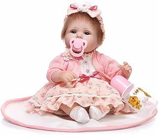 "Reborn Baby Doll, 100% Handmade Soft Silicone 15.7"" /40cm Lifelike Newborn Doll Girl for Children-RB064"