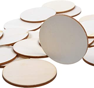 25 Pack 2 Inch Round Disc Unfinished Plywood Cutout Circles for Creating Jewelry Painted Christmas Tree Decorated/Craft Projects by Woodpeckers