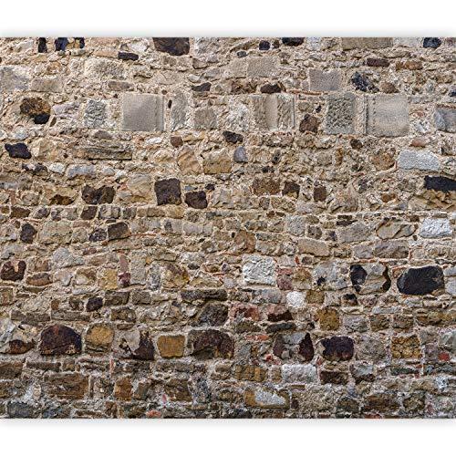 murando Fototapete selbstklebend Steinoptik 392x280 cm Tapete Wandtapete Klebefolie Dekorfolie Tapetenfolie Wand Dekoration Wandaufkleber Wohnzimmer Ziegel Mauer 3D f-B-0292-a-a
