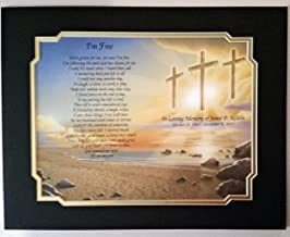 NAMES TO REMEMBER What's in a Name? I'm Free Personalized Bereavement/Memorial Poem w/Black & Frosted Gold Matte Border