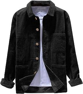 comprar comparacion Vectry Abrigo Hombre Chaqueta Hombres Otoño Moda Camisas Casual Manga Larga Tops Sólidos Pana Blusa Casual Talla Extra Sud...