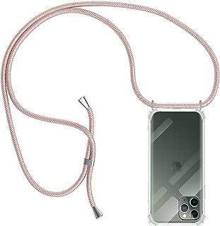 MICASE Funda con Cuerda para iPhone 11 Pro, Carcasa Transparente TPU Suave Silicona Case con Correa Colgante Ajustable Col...