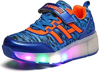 24XOmx55S99 LED Light Up Shoes Boys Casual Wings Glowing Roller Skating Shoes