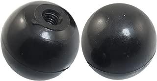 Aexit 10mmx35mm Black Ball Knobs Plastic 35mm Diameter Handgrip Female Ball Knobs Ball Knob