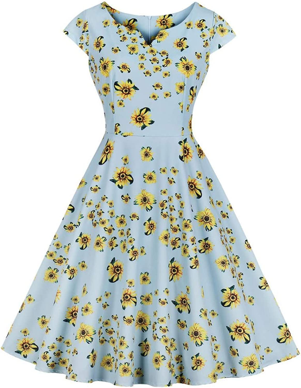 Aignse Dress Summer Casual Dress Women Short Sleeve Elegant Party Dresses Plus Size Floral Slim