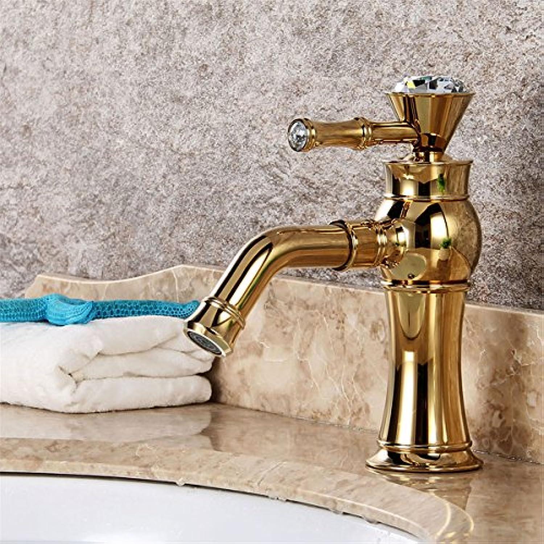 Bijjaladeva Wasserhahn Bad Wasserfall Mischbatterie Waschbecken WaschtischMessing Wasserhahn Bohren Voll Kupfer Badezimmer Waschbecken im Waschbecken Waschtisch Armatur Ein