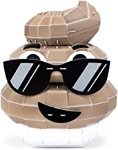 Deuces on the Loose 3D Poop Emoji Model Foam Puzzle with Toilet Display Stand (106 pieces) by Foamworks