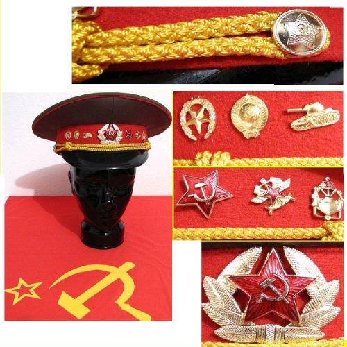 Schirmmütze Offizier Russland Sowjetunion Gr. 53 ,sehr Klein Fasching