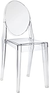 Modway Casper Modern Acrylic Stacking Kitchen and Dining Room Chair in Clear - Fully Assembled