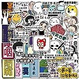 KATTERS 40 Graffiti Creative Text Emoji Packs Coche eléctrico Equipaje Trolley Maleta Guitarra Maleta Ordenador Pegatinas Impermeables