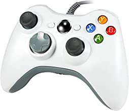 Wetoph Xbox 360 Wired Controller, XS02 PC Controller USB Gamepad Game Joystick Joypad Compatible for Microsoft 360 Console Windows PC Laptop Computer-White