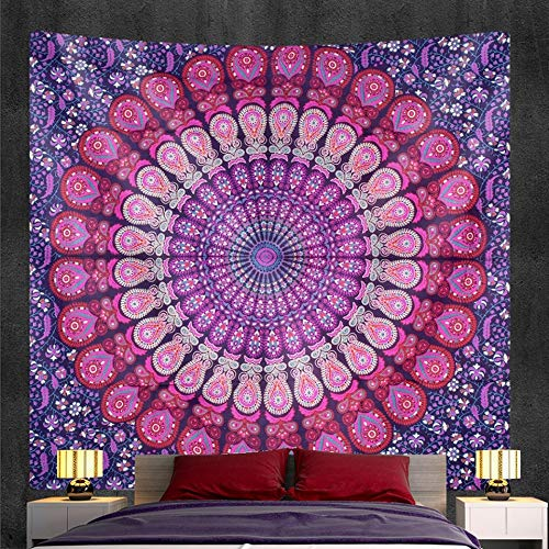 PPOU Mandala Tapiz Colgante de Pared Manta Bohemia decoración de la Pared del hogar Tela de Fondo Tela Colgante A9 130x150cm