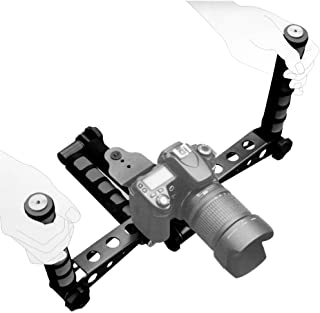 Ivation Pro Steady DSLR Rig System with Shoulder Mount for Video Stabilization for DV Cameras/Camcorders - Compact & Trave...