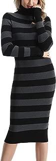 Women's Turtleneck Ribbed Elbow Long Sleeve Knit Sweater...