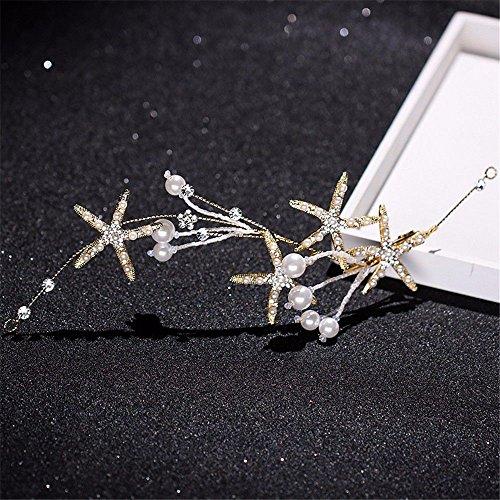 Weddwith Kopfschmuck Bridal Kopfschmuck European Style Brautkleid Exquisite Diamond Stirnband Seestern Pearl Haarschmuck Kopfschmuck Brautkleid Accessoires