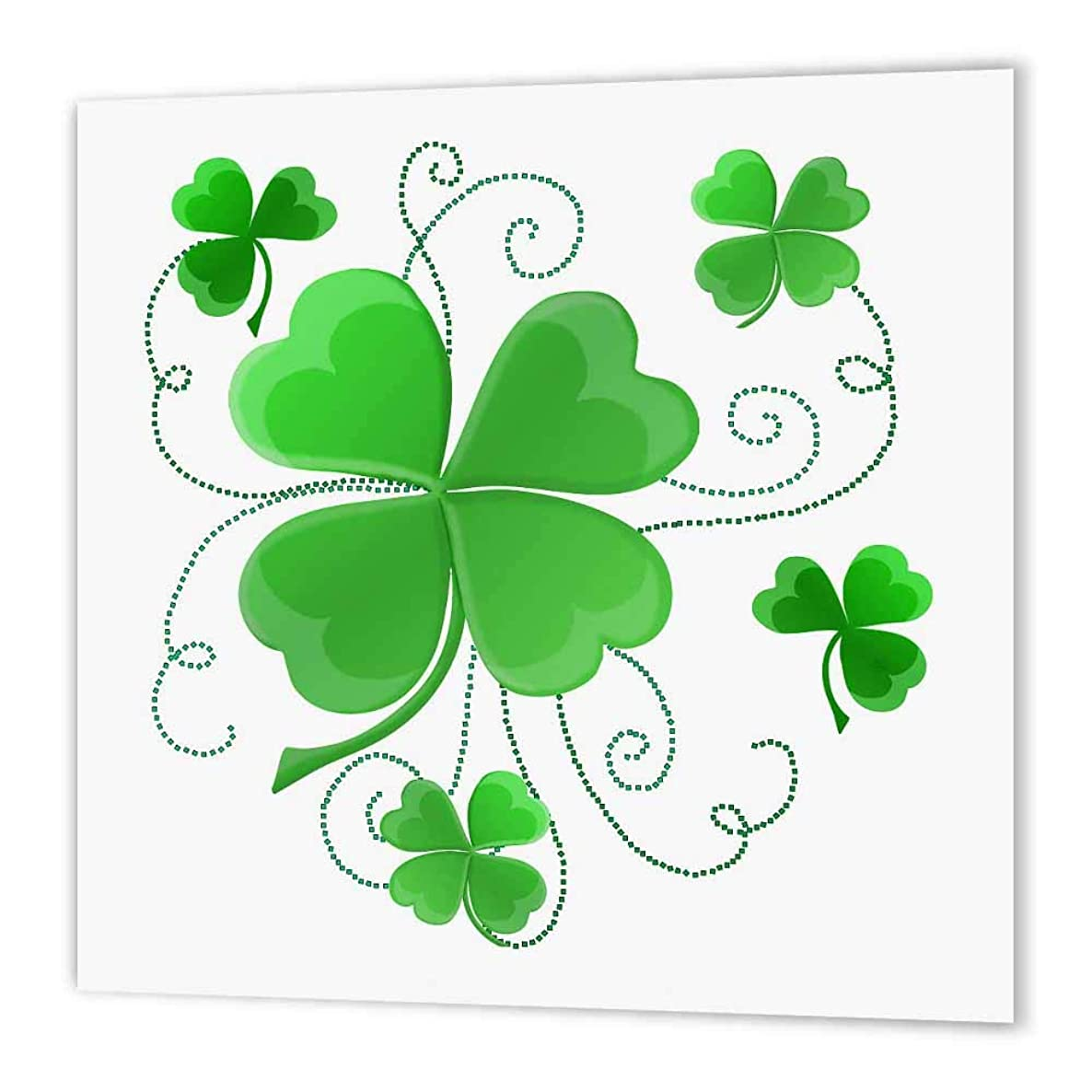 3dRose ht_11678_3 This Design is of Some Lucky Shamrocks Just in Time for St. Patricks Day-Iron on Heat Transfer Paper for White Material, 10 by 10-Inch