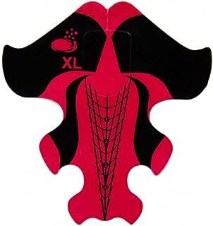 RM beautynails profesional XXL Stiletto Modelado Plantilla Plantillas 100unidades–Rojo y Negro Uñas uñas gel UV y acrílico